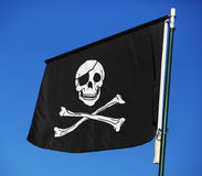 Flag of a pirate Royalty Free Stock Photos