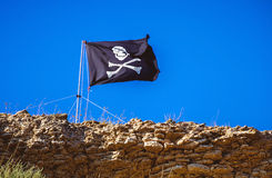 Flag of a Pirate Stock Images