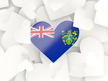 Flag of pitcairn islands, heart shaped stickers Stock Photo