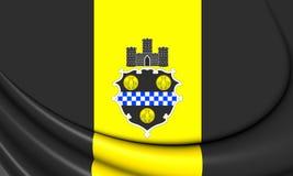 Flag of Pittsburgh Pennsylvania, USA. Royalty Free Stock Photos
