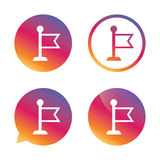 Flag pointer sign icon. Marker symbol. Royalty Free Stock Photography