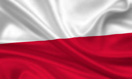 flag poland Royaltyfri Foto