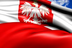 Flag of Poland Stock Photos