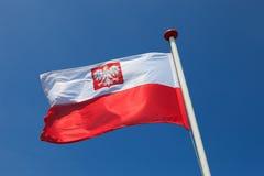 Flag of Poland. Polish national flag in the sky royalty free stock photos