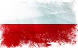 Flag of poland Stock Photography