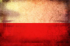Flag of poland Stock Photography