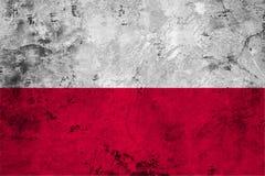 Flag of the Poland close up Stock Photos
