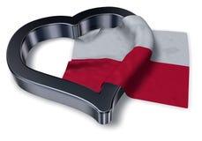 Flag of poland and heart symbol Royalty Free Stock Photo