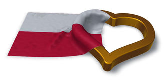 Flag of poland and heart symbol Royalty Free Stock Photography