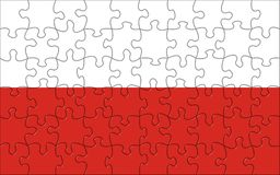 Flag of Poland puzzle Stock Images