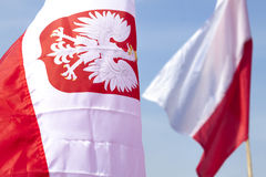 Flag of Poland Royalty Free Stock Photography