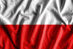 Flag of Poland. Waving flag of Poland - color Stock Image