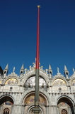 Flag pole in st marks square Stock Photography