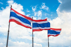 Flag pole of thai on blue sky Stock Image