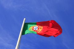 The flag of Portugal Stock Photo