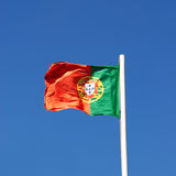 The flag of Portugal Royalty Free Stock Photo