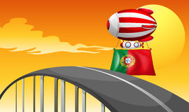 The flag of Portugal Stock Image