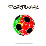 Flag of Portugal as an abstract soccer ball. Abstract soccer ball painted in the colors of the Portugal flag. Vector illustration royalty free illustration