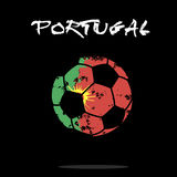Flag of Portugal as an abstract soccer ball. Abstract soccer ball painted in the colors of the Portugal flag. Vector illustration stock illustration