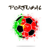 Flag of Portugal as an abstract soccer ball. Abstract soccer ball painted in the colors of the Portugal flag. Vector illustration vector illustration