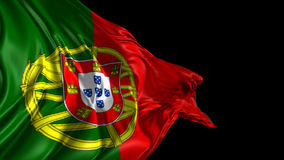 Flag of Portugal stock video