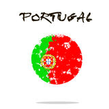 Flag of Portugal from blots of paint vector illustration
