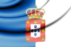 Flag of Portugal 1830. 3d Rendered Flag of Portugal 1830 Royalty Free Stock Photo