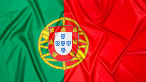 Portuguese Flag of Portugal. National flag of Portugal, Portuguese background stock images