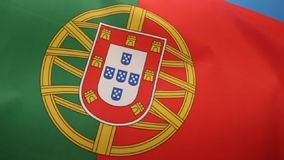 Flag of Portugal stock footage