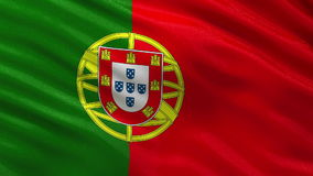Flag of Portugal seamless loop Royalty Free Stock Photography
