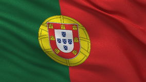 Flag of Portugal seamless loop stock video