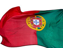 Flag of Portugal on a white background Stock Image