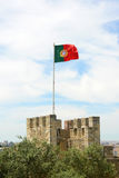 Flag of Portugal in the wind Royalty Free Stock Photos