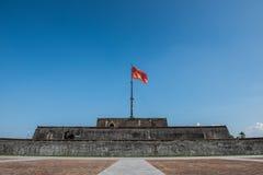 Flag Post in Citadel Stock Image
