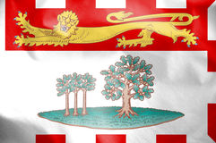 Flag of Prince Edward Island, Canada. Stock Photography