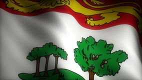 Flag of Prince Edward Island stock video