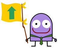 Flag of progress Stock Photos