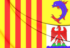 Flag of Provence-Alpes-Cote d`Azur, France. Royalty Free Stock Image