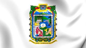 Flag of Puebla State, Mexico. Royalty Free Stock Images