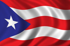 Flag of Puerto Rico. Waving in the wind Royalty Free Stock Photo