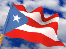Flag. Puerto-Rico Stock Photo