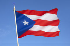 Flag of Puerto Rico - The Caribbean Stock Photos