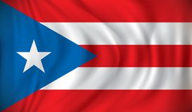 Flag of Puerto Rico. Vector illustration Royalty Free Stock Images
