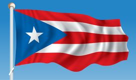 Flag of Puerto Rico. Vector illustration Royalty Free Stock Photography