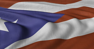 Flag of Puerto Rico. Fluttering in light wind Royalty Free Stock Photos