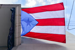 Flag of Puerto Rico Stock Image