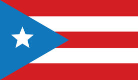 Flag of puerto rico  icon illustration Royalty Free Stock Images