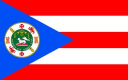 Flag of Puerto Rico, USA. Flag of Puerto Rico officially the Commonwealth of Puerto Rico United States territory located in the northeastern Caribbean royalty free stock photo