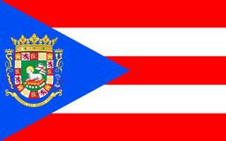 Flag of Puerto Rico, USA. Flag of Puerto Rico officially the Commonwealth of Puerto Rico United States territory located in the northeastern Caribbean royalty free stock images