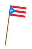 Flag of Puerto Rico. Tooth pick wit a small paper flag of Puerto Rico Royalty Free Stock Photos